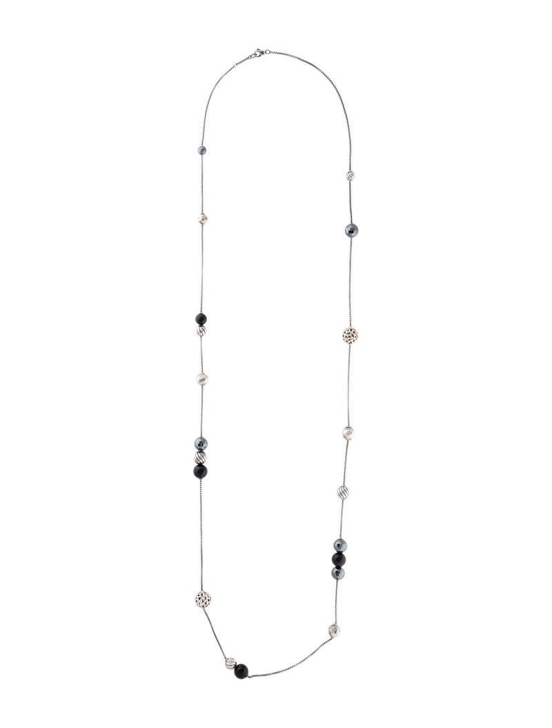 David Yurman Onyx & Hematite Elements Necklace