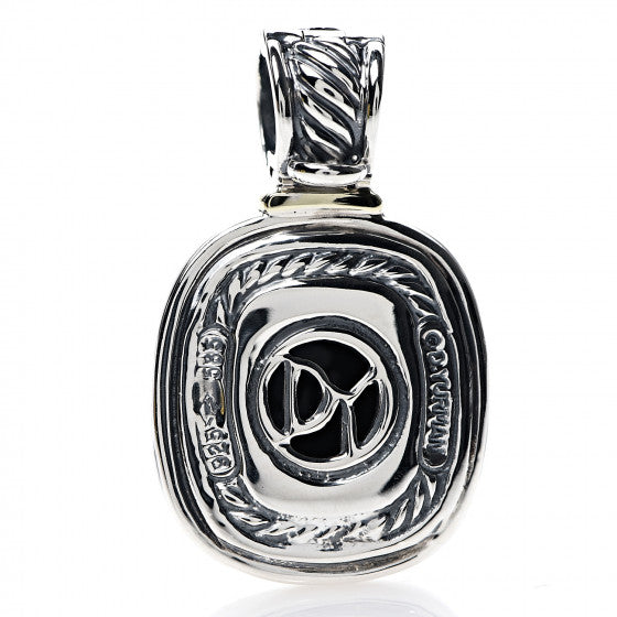 David Yurman Onyx Albion Enhancer Pendant