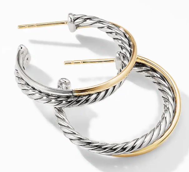 David Yurman Crossover Medium Hoop