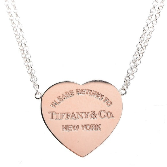 Return to Tiffany Metal Heart Pendant Necklace