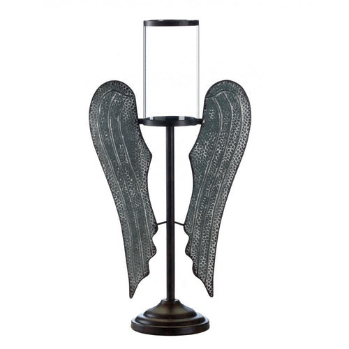 Angel Wings Farmhouse Candleholder