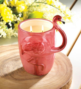 Pink Flamingo Candle Cup