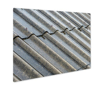 Metal Panel Print, Prague Streams Of Rain Water Pour Off Corrugated Roof