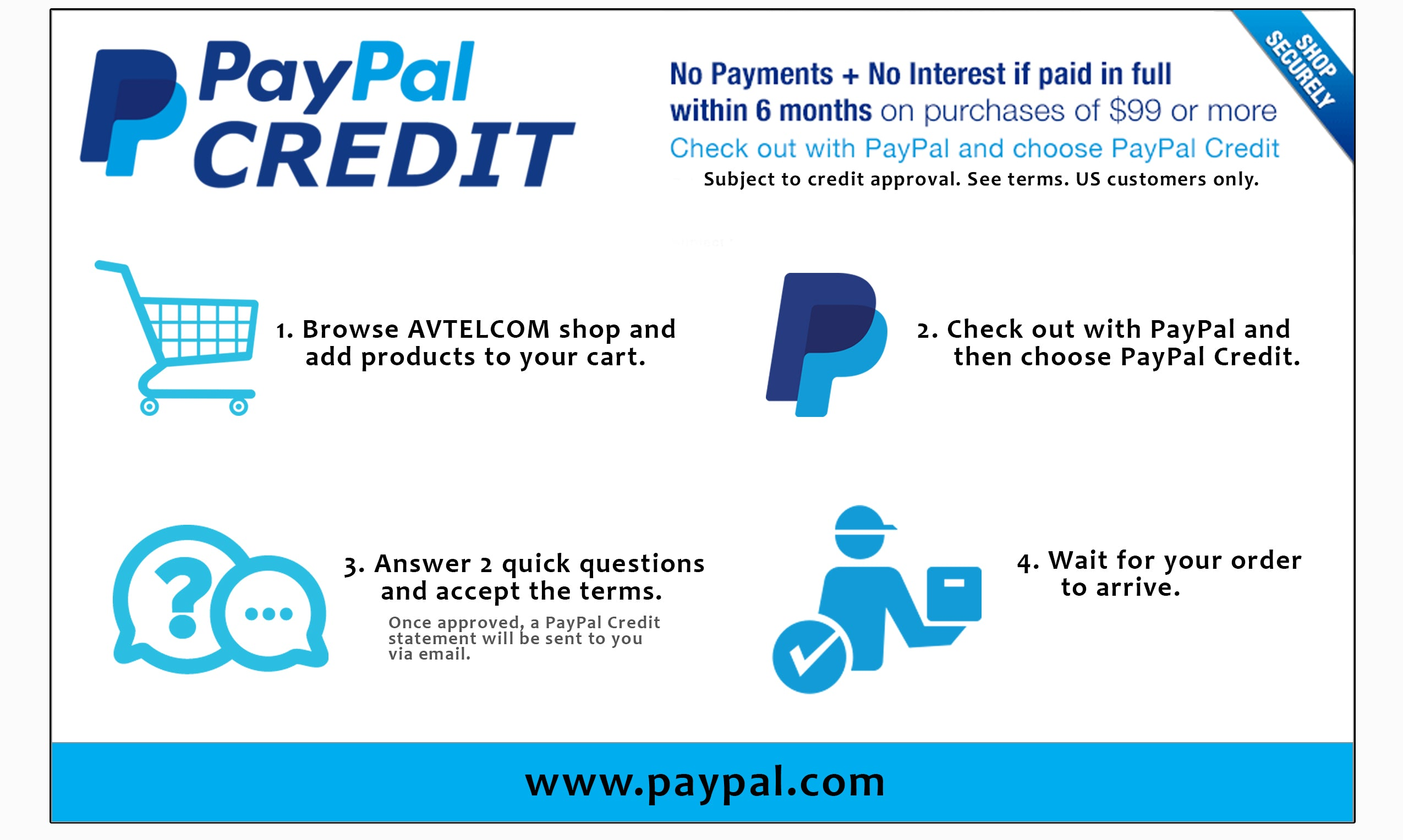 We Accept Paypal Credit