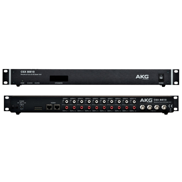 AKG CSX BIR10 10 Channel Infrared Control Unit and CS5 Breakout Box