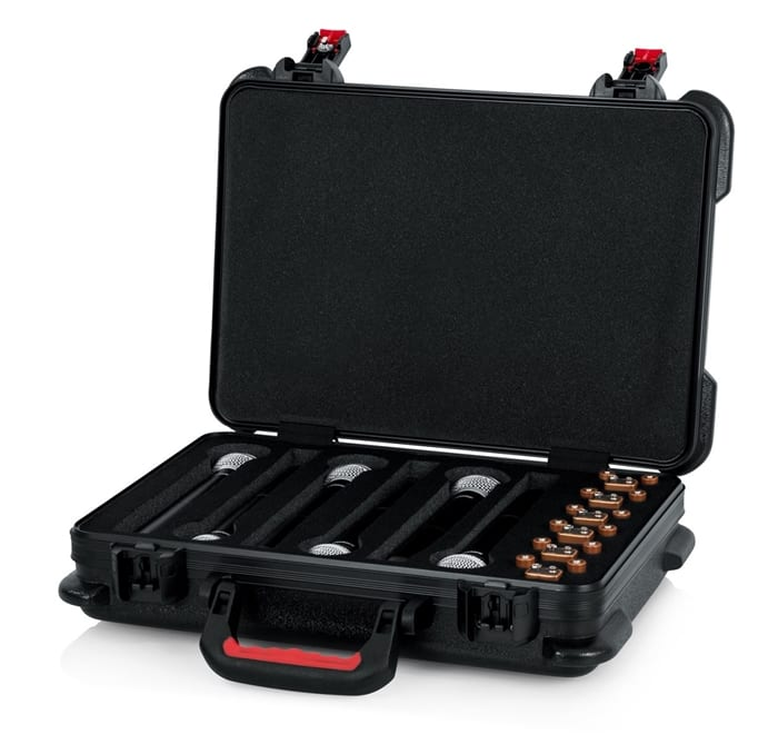 Gator Cases GTSA-MICW6 Wireless Microphone Case fro 6 Wireless Microphones