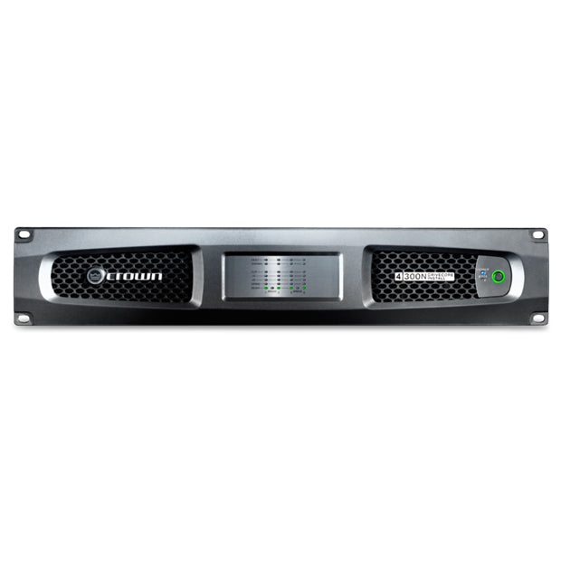 Crown DCi 4|300N Four-channel, 300W @ 4 Ohms Power Amplifier with BLU link, 70V/100V