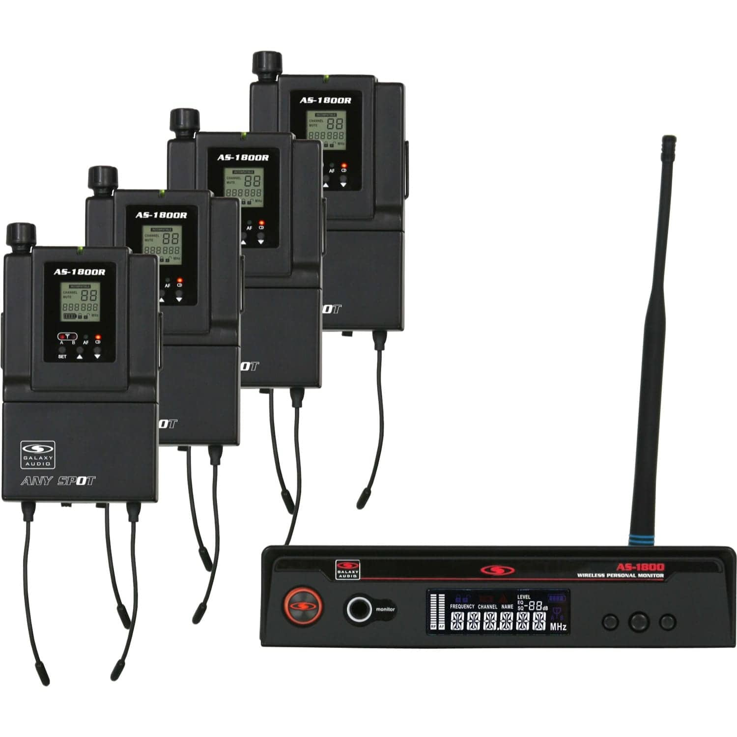 Galaxy Audio AS-1800-4B2 | AS-1800-4 Wireless Personal Monitor Band Pack (538-554 MHz)