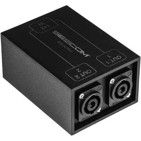 Sescom SES-NLPB-3 SpeakON Breakout Audio Box NL4 to Two NL4 Chassis Connectors