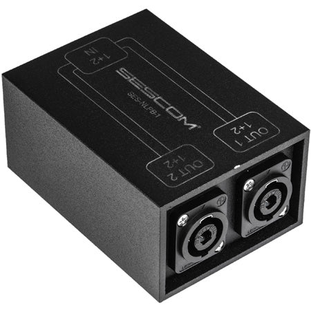 Sescom SES-NLPB-1 SpeakON Parallel Splitter Audio Box NL4 to Two NL4 Chassis Connectors