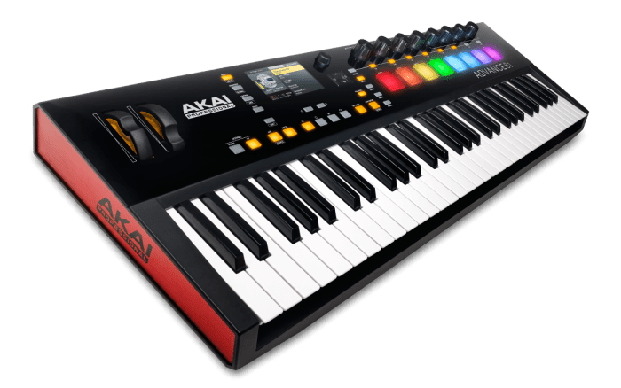 Akai ADVANCE 61 | 61-Key Virtual Instrument Production Controller with Full-Color LCD Screen