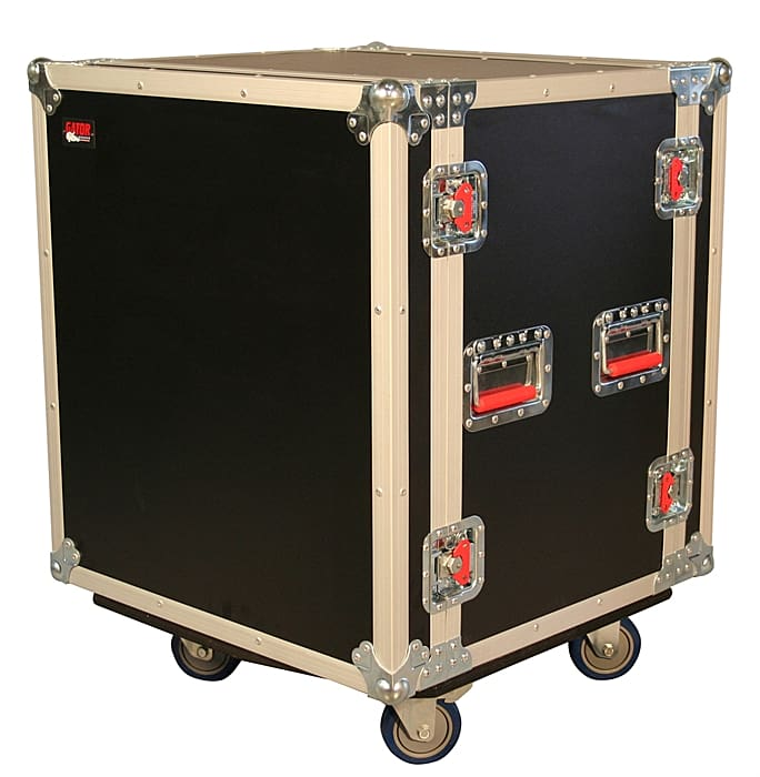 Gator Cases G-TOUR SHK12 CA - 12U Shock Audio Road Rack Case with Casters