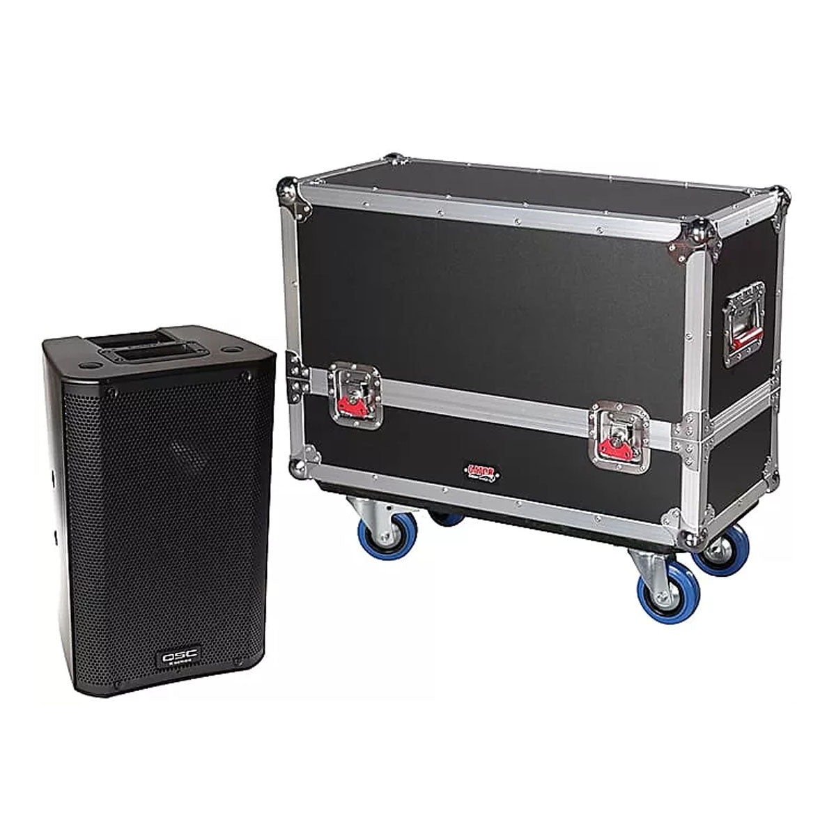 Gator Cases  G-TOUR SPKR-2K8 Tour Series Speaker Case for Two QSC K8 Speaker Cabinets