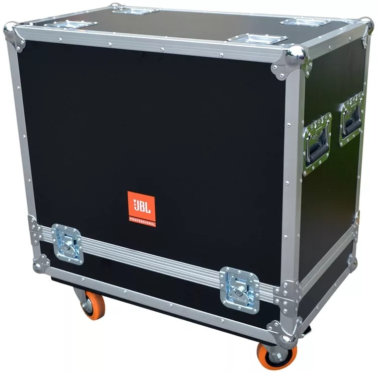 "JBL BAGS | Flight Case for (2x) PRX815W. 1/2"" Plywood Construction, 3.5"" Casters. Truck Pack Exterior"