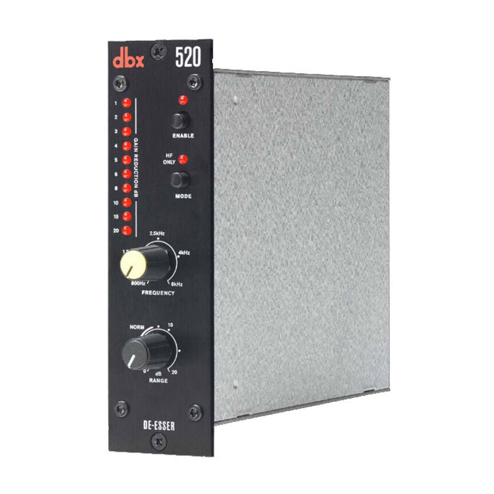 dbx 520 De-Esser - 500 Series, allows you to create brilliant, crisp vocals without sibilance