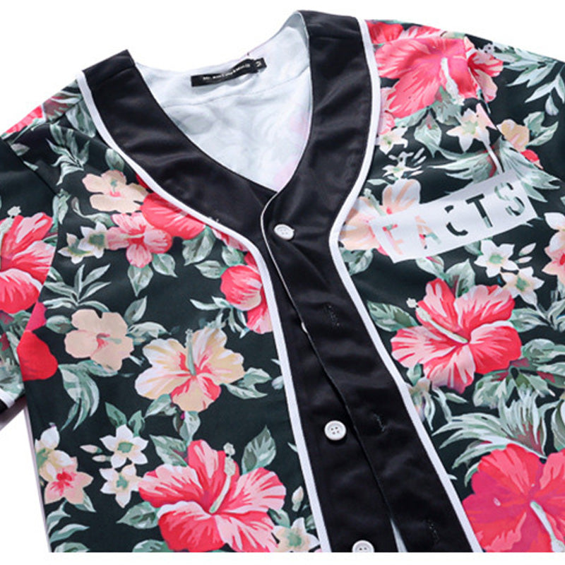 Floral Facts Baseball Shirt