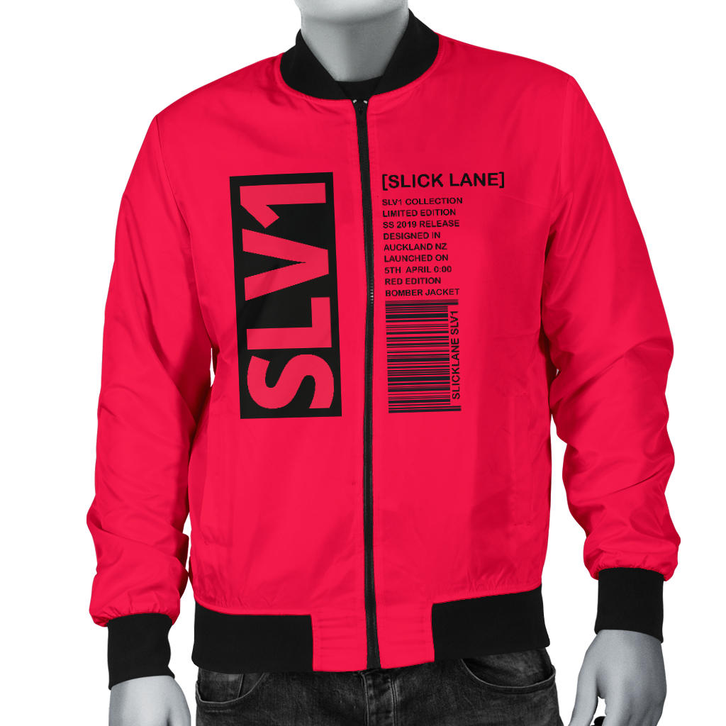 SLV1 Red Bomber Jacket