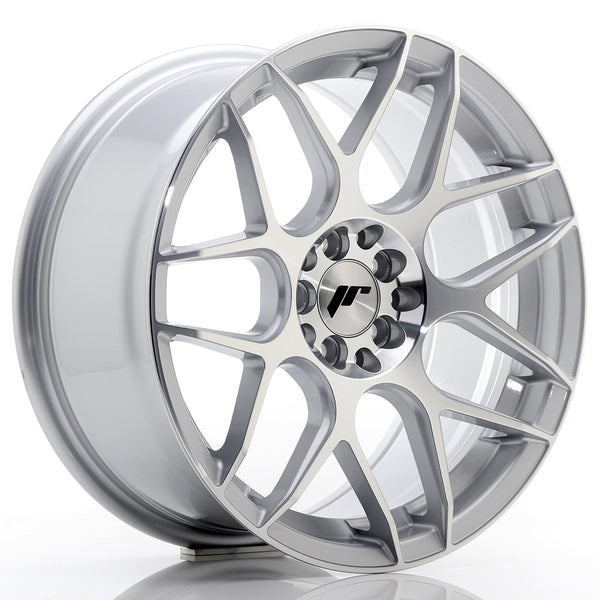 JR Wheels JR18 17x8 ET35 4x100/114 Silver Machined Face