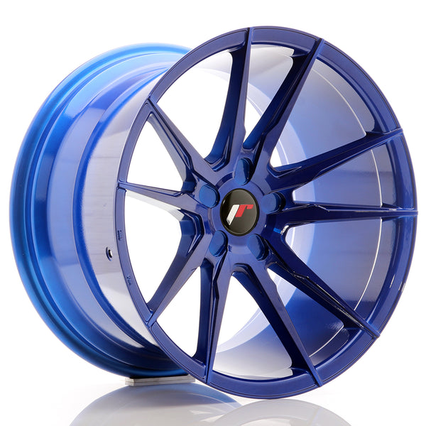 JR Wheels JR21 19x11 ET15-30 5H BLANK Platinum Blue