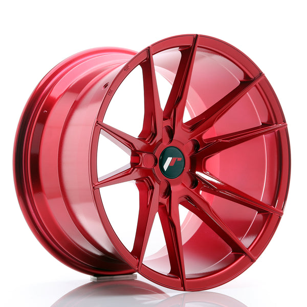 JR Wheels JR21 19x11 ET15-30 5H BLANK Platinum Red