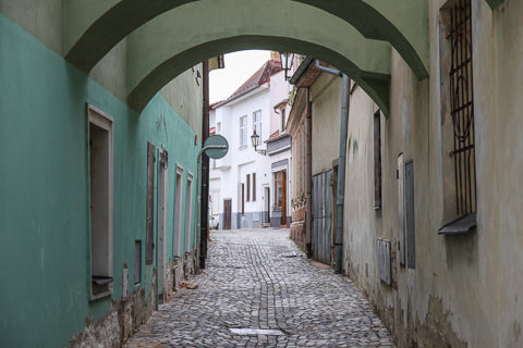 Cycling Tour Jindrichuv Hradec Czech cobbled streets ConnalKit