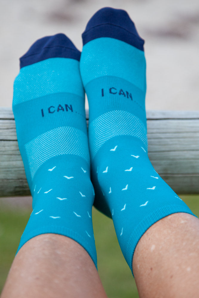Connal Kit Cycling Socks Castle Bay I Can Motivation