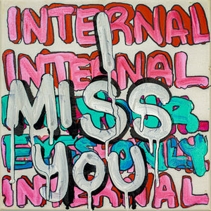 "I Miss You - 10"" x 10"" Oil and Acrylic Paint on Canvas"
