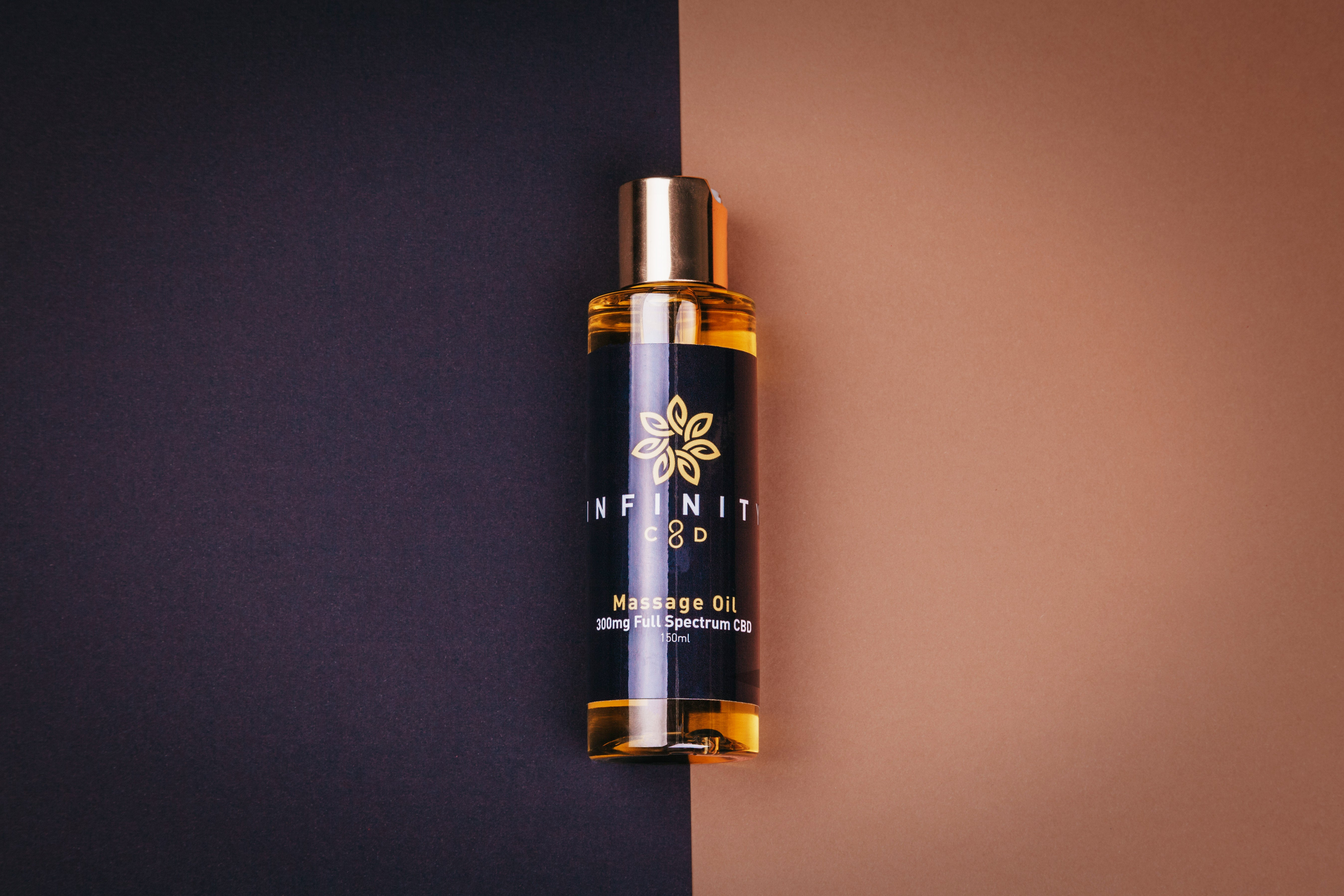 Infinity CBD CBD Massage Oil Made in Wales All Natural Lavender, Chamomile and Peppermint