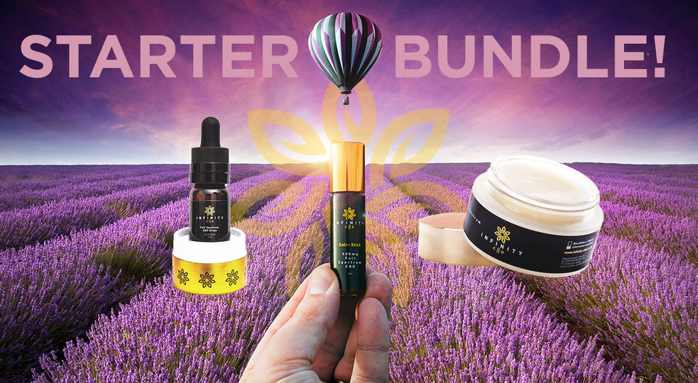 CBD Starter Bundle Cosmetics and Drops Infinity CBD