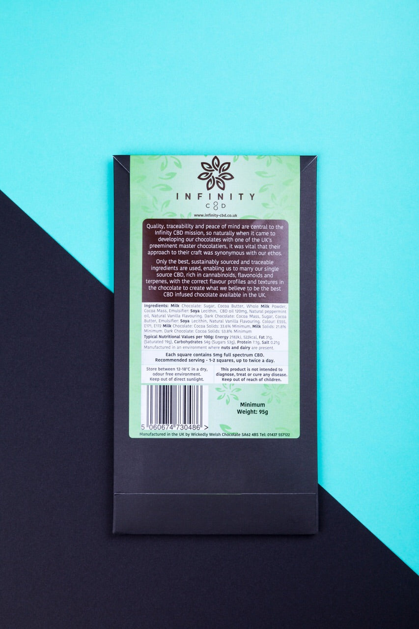 Infinity CBD Infused Gourmet Chocolate Mint Full Spectrum CBD