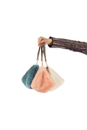 Pyramid Faux Fur  Bags