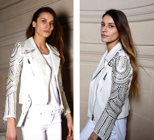 Nour Hammour Paris Fleurette leather jacket