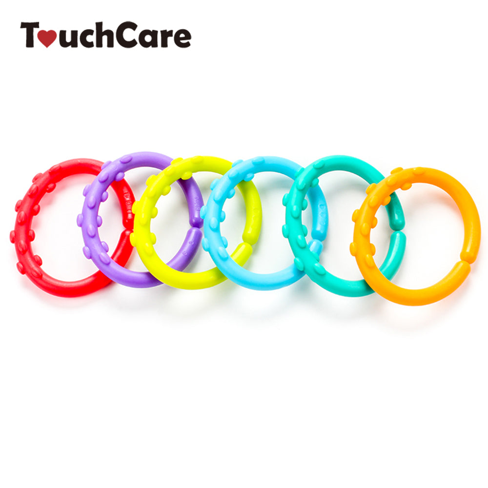24pcs/pack Silicone Baby Teether Kids Toothbrush 0-12 Months Baby Teething Ring Teething Necklace Newborn Molar Ring Chewing Toy