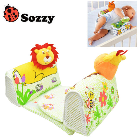 1pcs Sozzy Baby Finalize Design Pillow Anti Roll Pillow Adjust Position Shaping Side Sleeping Pillow frog Lion Giraffe