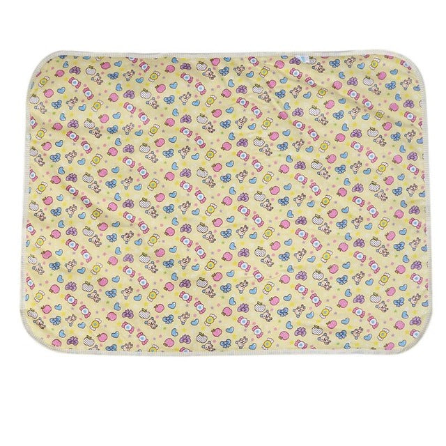 Catoon Waterproof Mattress Baby Diaper Changing Pads Urine Mat Infant 3 Layer Sheet Cotton Inside Nappy Changing Mat 45*30cm