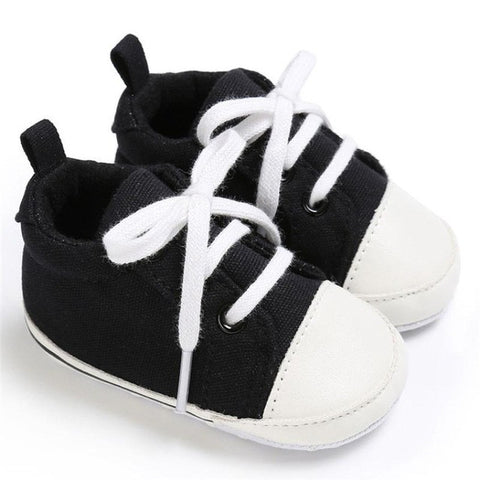 Spring Autumn Baby Shoes Toddler Girls Boys Crib Sneaker Shoes 2017 Fashion Canvas Soft Sole Prewalkers Baby Moccasins Shoes