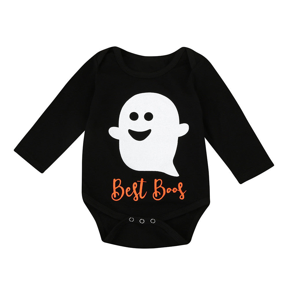 2017 Autumn New arrival funny baby clothes Infant Baby Boy Girl Halloween Little Devil Printing Long Sleeve Romper Jumpsuit