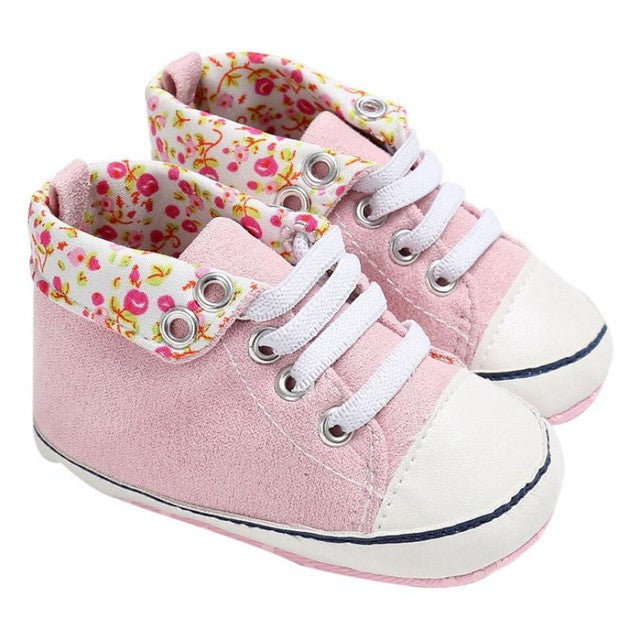 Fashion Baby Boy&Girl Shoes Lace-Up Children Sneakers Baby Infant Shoes Florals Soft Prewalkers First Walkers Bebek Ayakkabi