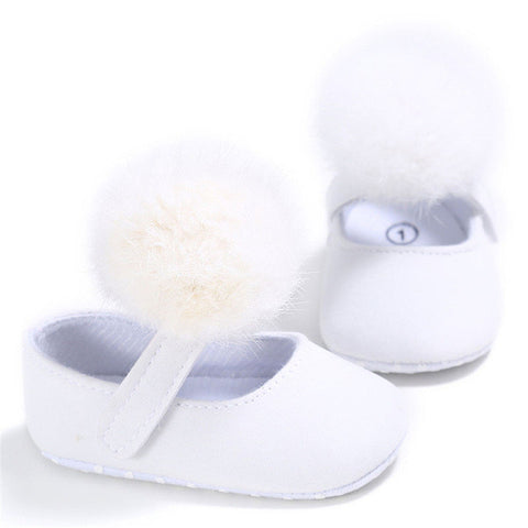Newborn Spring Toddler Baby Girls Pompom Princess Soft Sole Crib Shoes Sneaker Anti-slip High Quality 2017 Best