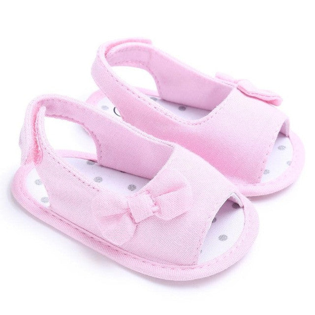 Toddlers Baby Girls Bowknot Summer Casual Soft Sole Crib Shoes