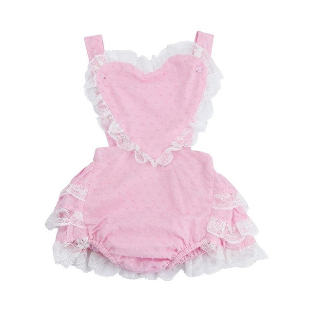 Lovely Toddler Infant Sleeveless Backless Lace Jumpsuit Romper Sunsuit