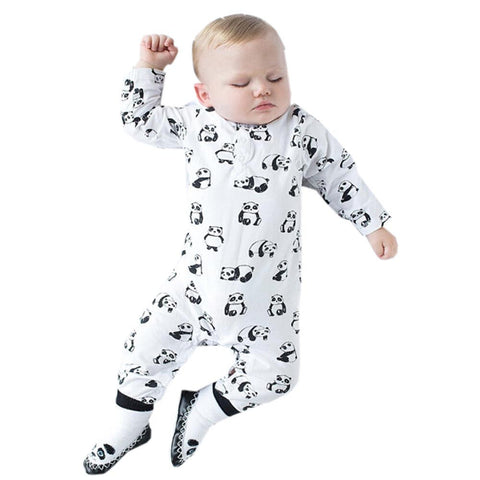 Baby Clothing 2017 New winter and autumn Newborn Baby Boy Girl Rompers Clothes Panada Animal Print Long Sleeve Infant Product