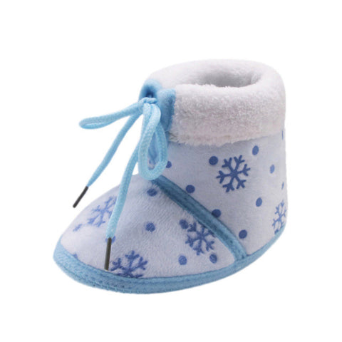 2017 Winter Baby Shoes Toddler Newborn Christmas Baby Snow Print Soft Sole Boots Prewalker Warm Shoes Kids Boots