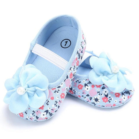 Cute Princess Infant Girl Shoes With flowers lovely Children's Footwear Baby Girls Newborn Toddler Soft Soled Shoes Zapatos