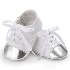 Baby Boys Girls PU Leather Infant Toddler Sneakers Crib Newborn Kid Babe Soft Soled Classic Casual Shoes for kids Lace-up