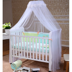 FOXNOVO Baby Mosquito Net Baby Toddler Bed Crib Canopy Netting