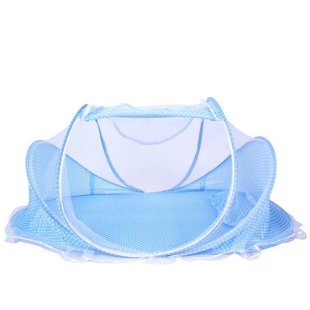 Soft Summer Baby Bed Crib Netting Mosquito Net with Pillow Collapsible Newborn Kids Children Baby Crib Netting