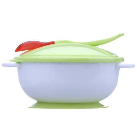 Baby Infants Feeding Bowl With Sucker and Temperature Sensing Spoon Suction Cup Bowl Slip-resistant Tableware Set for Children