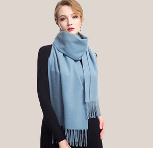Wool Scarf Ice Blue