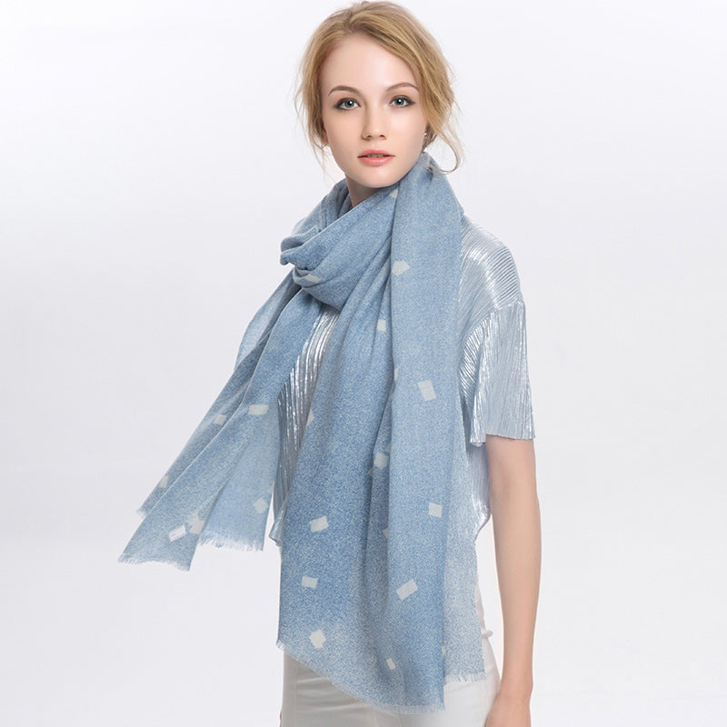 Wool Scarf Featherlight Beau Blue